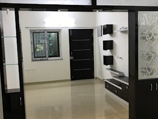 Hall Partition with TV unit HouseDecors.in Living room