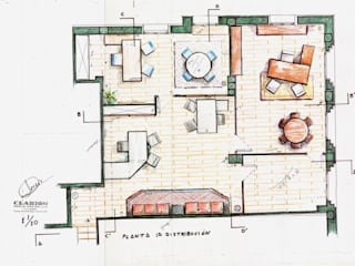 de estilo  por Clarion - acotrazio d'interiors S.L.U,