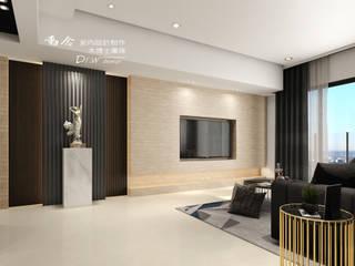 允將大有 现代客厅設計點子、靈感 & 圖片 根據 木博士團隊/動念室內設計制作 現代風