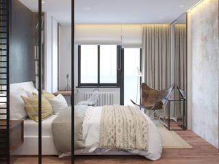 Minimalist bedroom by J.Lykasova Minimalist