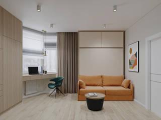 Ruang Studi/Kantor Gaya Skandinavia Oleh дизайн-бюро ARTTUNDRA Skandinavia