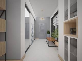Дом на ул. Гагарина Коридор, прихожая и лестница в модерн стиле от Анна Модерн
