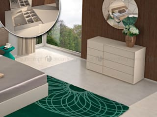 Decordesign Interiores DormitoriosTocadores Aglomerado Blanco