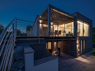 AL ARCHITEKT - in Wien Single family home Wood Grey