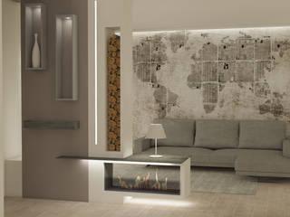 Salones de estilo moderno de Silvana Barbato, StudioAtelier Moderno