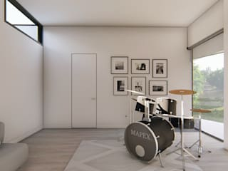 Casa en Quillota Salas multimedia de estilo minimalista de Sebastian Ginsberg Arquitecto Minimalista