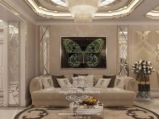 غرفة المعيشة تنفيذ Дизайн-студия элитных интерьеров Анжелики Прудниковой