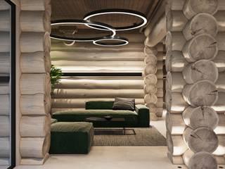 PARK-HOTEL Парк-отель на Алтае, первый жилой бревенчатый корпус Коридор, прихожая и лестница в стиле минимализм от АРТ УГОЛ Студия архитектуры и дизайна Минимализм