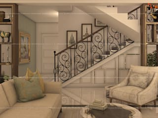 4BHK Villa with Complete Modern Fusion Interiors, Located in Bangalore Modern living room by Fabmodula Modern