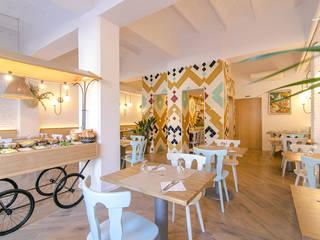 Restaurantes de estilo  por Piedra Papel Tijera Interiorismo, Mediterráneo