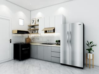 viku Kitchen units Wood Grey