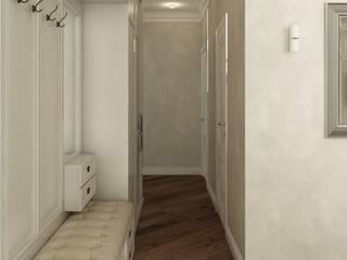 Дизайн интерьера трехкомнатной квартиры (ЖК Гринада): Коридор и прихожая в . Автор – Лана Веригина ,