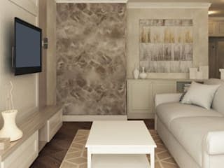 Дизайн интерьера трехкомнатной квартиры (ЖК Гринада): Гостиная в . Автор – Лана Веригина ,