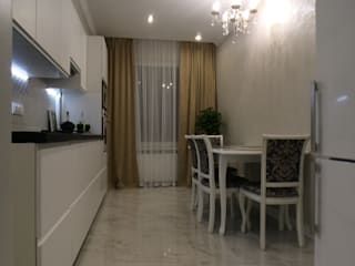 Дизайн интерьера двухкомнатной квартиры (ЖК САМПО): Кухни в . Автор – Лана Веригина ,