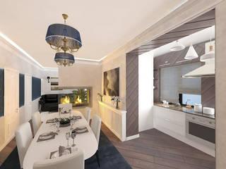 Дизайн интерьера загородного дома ( г.Истра) : Гостиная в . Автор – Лана Веригина ,