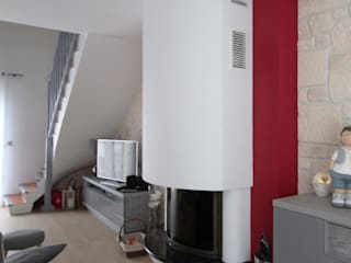 Rénovation espace de vie Salon moderne par Tiphaine PENNEC Moderne