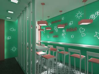 DONDURMACI DÜKKANI TASARIMI Modern Çalışma Odası Sanal Mimarlık Hizmetleri Modern