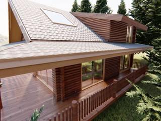 tomruk villa Modern Kış Bahçesi Dost ahşap Modern