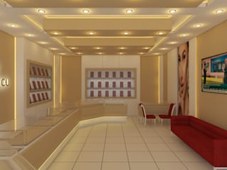 KUYUMCU DEKORASYONU Modern Çalışma Odası Sanal Mimarlık Hizmetleri Modern