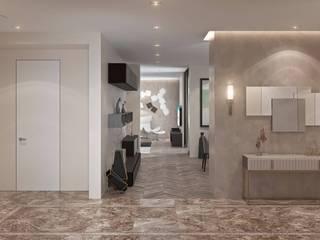 Ар-деко: Роскошь и уют Коридор, прихожая и лестница в эклектичном стиле от Fusion Dots Эклектичный