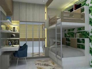 3- Bedroom Condominium Unit by Corpuz Interior Design Tropical