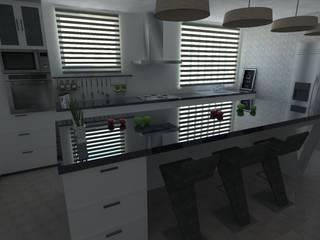Diseño de cocina - Interiorismo : Cocinas equipadas de estilo  por Central Grup, Moderno