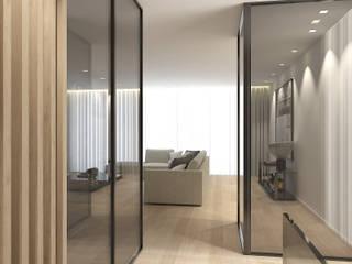 Ingresso, Corridoio & Scale in stile moderno di 411 - Design e Arquitectura de Interiores Moderno