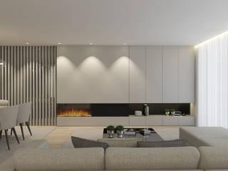 Soggiorno moderno di 411 - Design e Arquitectura de Interiores Moderno