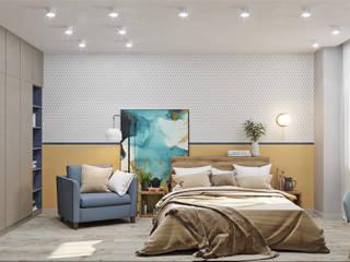 Уютная спальня: Спальни в . Автор – DesignNika