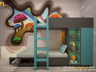 3 BHK Interiors For Mr Dileep Modern style bedroom by Vadhia Interiors Pvt Ltd Modern