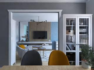 Проект совмещенный спальни и кухни Кухня в классическом стиле от Musin Ruslan Классический