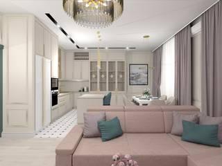 Проект квартиры в современной классике: Гостиная в . Автор – ARTWAY центр профессиональных дизайнеров и строителей,