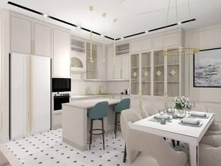Проект квартиры в современной классике: Встроенные кухни в . Автор – ARTWAY центр профессиональных дизайнеров и строителей,