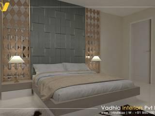 3 BHK Interiors bedroom interior: modern  by Vadhia Interiors Pvt Ltd,Modern
