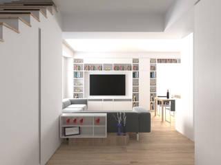 Pasillos, vestíbulos y escaleras modernos de DUOLAB Progettazione e sviluppo Moderno