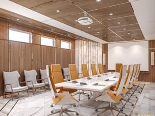 DMC Office Espaces commerciaux modernes par Flamingo Studio Moderne