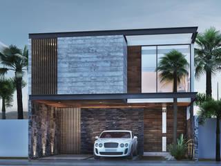 Residencia RP [Bahia de Banderas, Nay.] 3C Arquitectos S.A. de C.V. Casas unifamiliares Hierro/Acero Gris