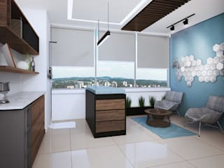 Consultorio CC ¨[Irapuato, Gto.] 3C Arquitectos S.A. de C.V. Clínicas y consultorios médicos de estilo minimalista Madera Azul