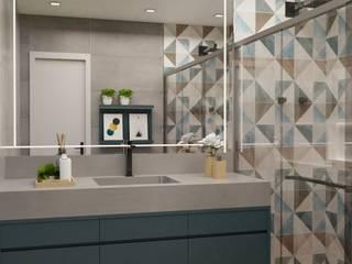 BRM - Banheiro: Banheiros  por Studio MBS Arquitetura,Moderno