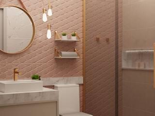 RDJ - Banheiro: Banheiros  por Studio MBS Arquitetura,Moderno