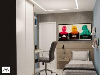 APK - Quarto de Rapaz: Quartos pequenos   por Studio MBS Arquitetura,Moderno