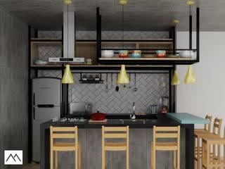 LRM - Cozinha: Cozinhas  por Studio MBS Arquitetura,Industrial