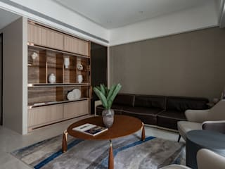 Bright House 现代客厅設計點子、靈感 & 圖片 根據 敦月設計 現代風