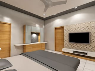 residential design Modern style bedroom by scale studio Modern