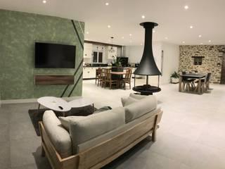 GC Aménagement Salas de estilo escandinavo Madera Beige