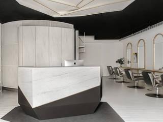 漢玥室內設計 Office spaces & stores Grey