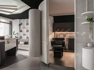 慕白 Mute White - 混搭風髮廊 玩出獨特性: 不拘一格  by 漢玥室內設計, 隨意取材風