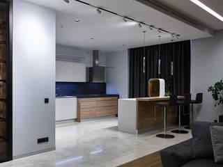 Квартира в ЖК Дом на Мосфильмовской Кухня в стиле минимализм от os.architects Минимализм