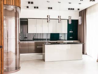 Квартира в ЖК Садовые Кварталы Кухня в стиле минимализм от os.architects Минимализм