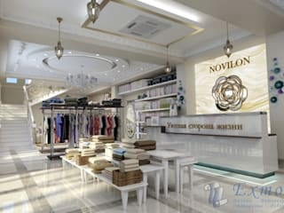 Дизайн магазина домашней одежды от Цунёв_Дизайн. Студия интерьерных решений. Классический